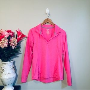 DANSKIN NOW Hot Pink Athletic Semi-Fitted Pullover